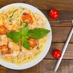 Spaghetti Scampi - Pauline&Olivier