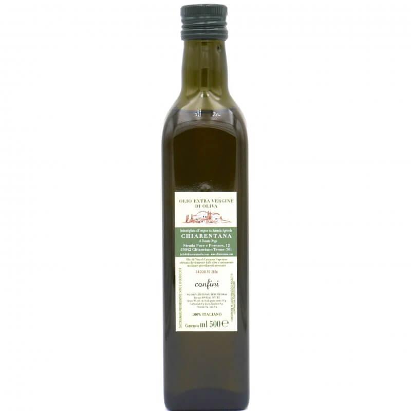 Huile d'olive extra vierge confini 500ml - La Chiarentana - Pauline&Olivier