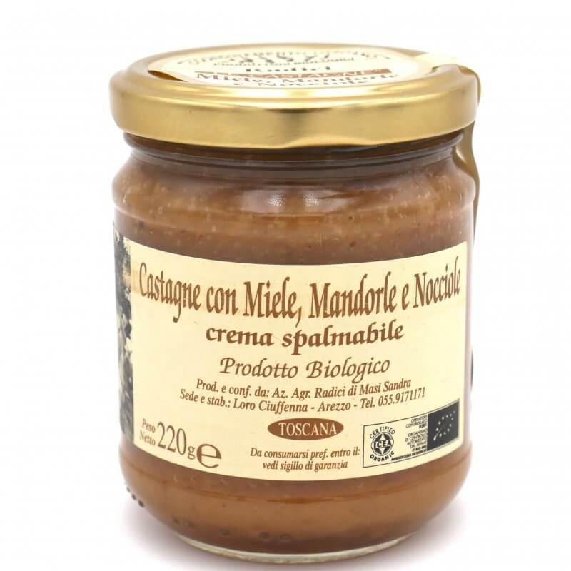 Crème de marron miel, amandes et noisettes bio - Azienda agricola Radici - Pauline&Olivier