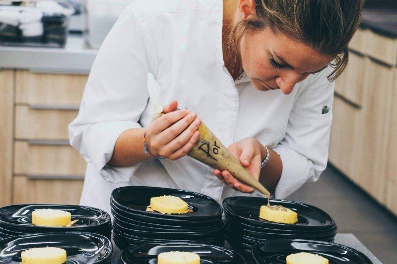 Polenta al tartufo bianco, crème de cèpes, truffe d'été - Pauline&Olivier