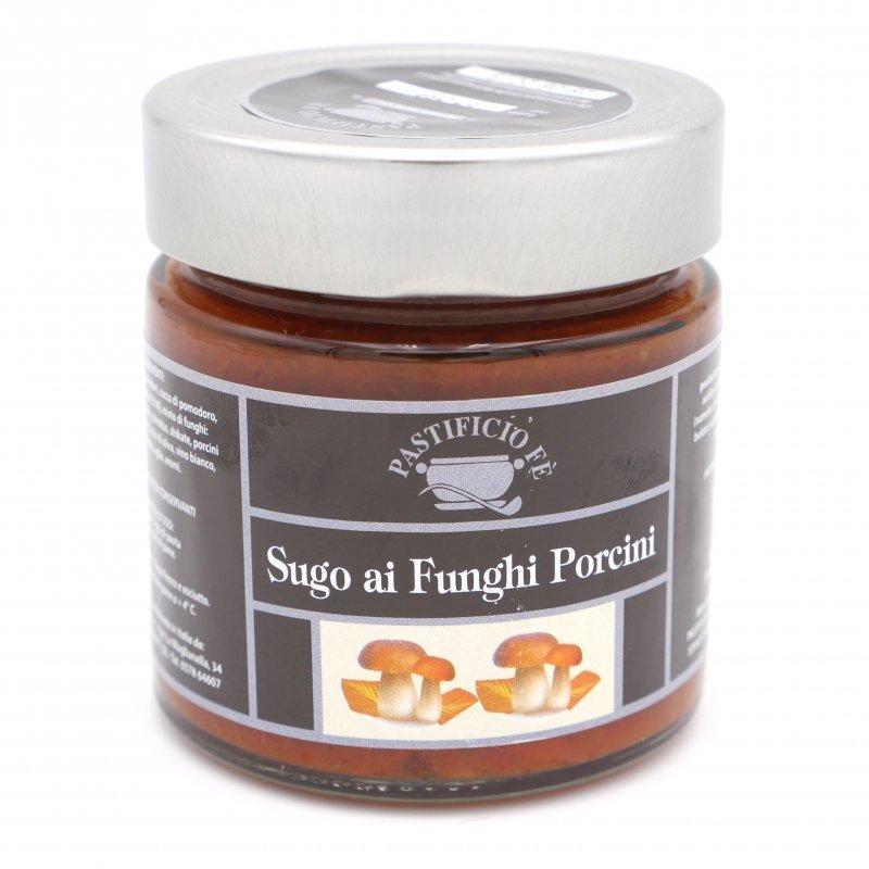 sauce tomate aux cèpes de chez Pastificio Fé