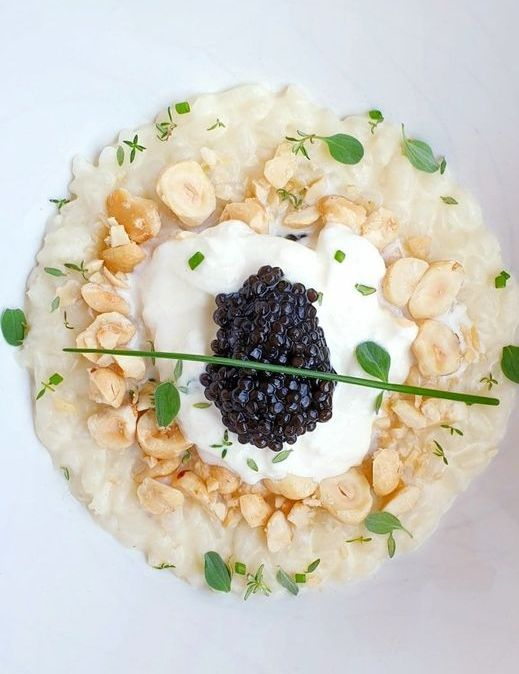 Risotto au caviar réalisé avec notre Caviar Oscietra Intenso Cavaletto